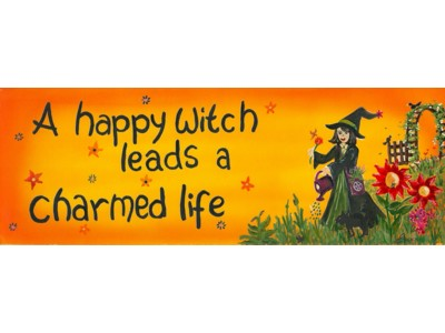 A Happy Witch Magnet