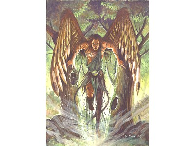 Archangel Uriel A6 Card