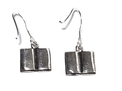 Book of Shadows Silver Earrings