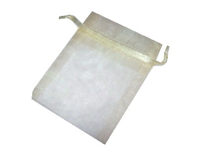 Organza Bag 7.5x11cm Ivory - Click Image to Close