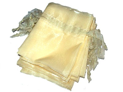 Organza 8x10cm Yellow - Click Image to Close