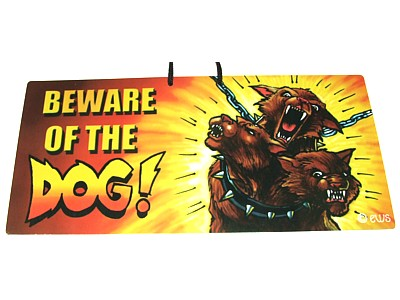 Beware of the Dog Witchy Sign
