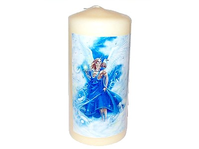 15cm Archangel Raphael Decorative Candle
