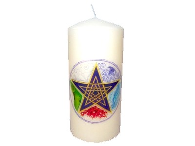 15cm Pentagram Elements Decorative Candle