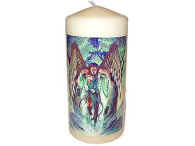 15cm Archangel Uriel Decorative Candle