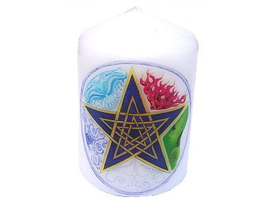 10cm Pentagram Elements Decorative Candle