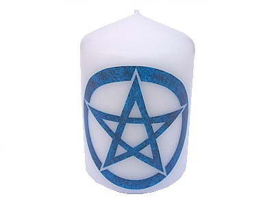 10cm Water Element Pentacle Decorative Candle