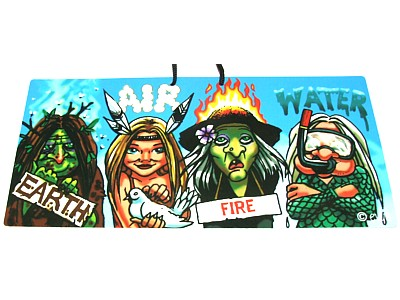 Earth, Air, Fire, Water Witchy Sign