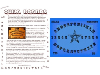 Ouija Easy Guide A4 Poster
