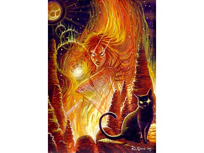 Fire Goddess A6 Card