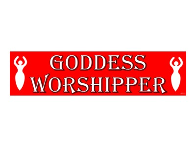 Goddess Worshipper Bumper Sticker