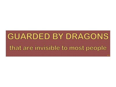 Guarded By Dragons That Are Invisable To Most Bumper Sticker