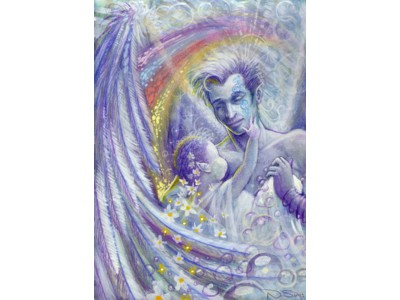 Guardian Angel for New Baby A6 Card