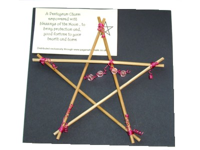 Hedgewitch Wooden Pentagram Charm
