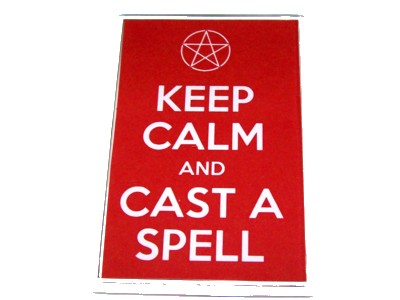Keep Calm & Cast a Spell with Pentacle Magnet