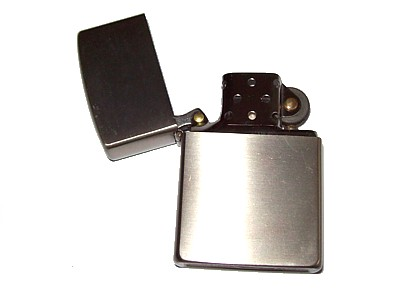 Flip Top Brushed Aluminium Petrol Lighter