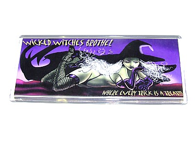 Wicked Witches Brothel Magnet - Click Image to Close