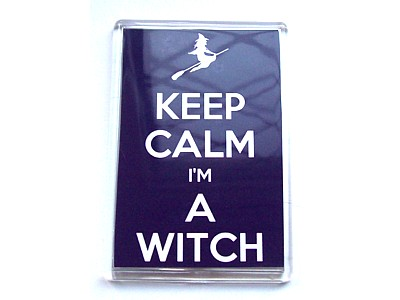 Keep Calm I'm a Witch Magnet with Flying Witch