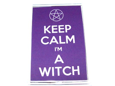 Keep Calm I'm a Witch Magnet with Pentacle
