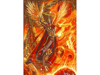 Archangel Michael A6 Card