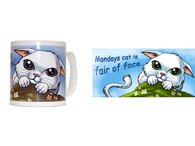 Monday's Cat is Fair of Face Mug