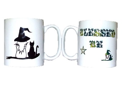 Blessed Be Witch & Cat Mug