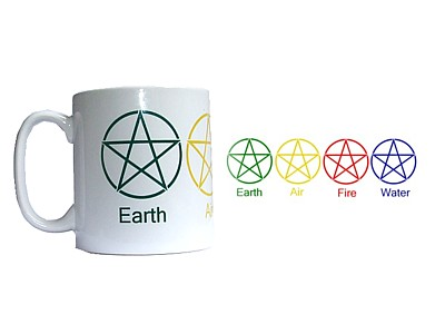Earth, Air, Fire, Water Mug