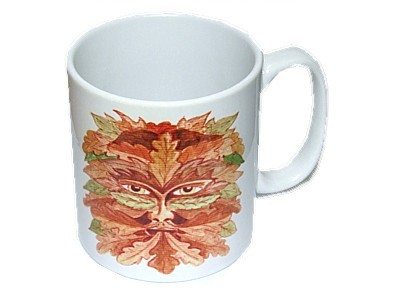Green Man Autumn Mug