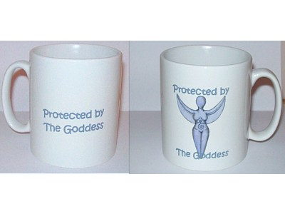 Protected by the Goddess Mug