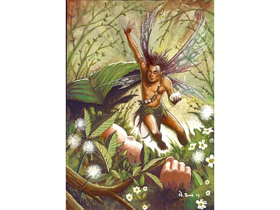 Protector of Children Fairy A6 Card