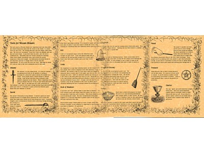Tools for Wiccan Rituals (set of 4) Posters