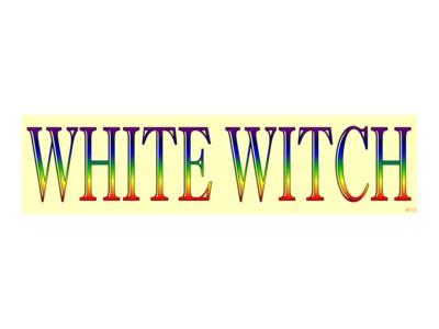 White witch bumper sticker