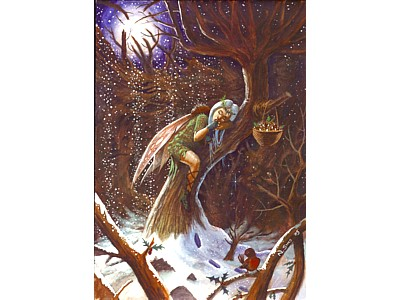 Winter Fairy A6 Card