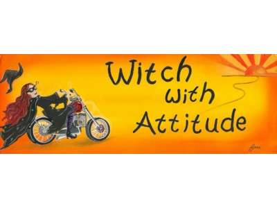 Witch With Attitude Magnet