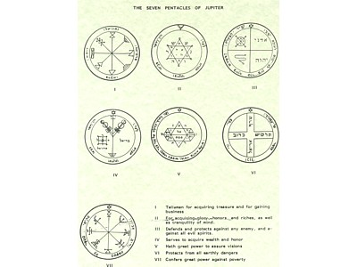 7 Pentacles of Jupiter Poster