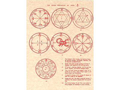 Seven Pentacles of Mars Poster