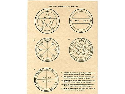 7 Pentacles of Mercury Poster