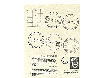 6 Pentacles of the Moon Poster