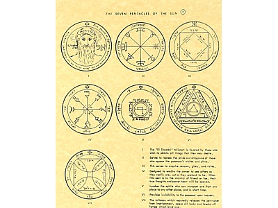 7 Pentacles of the Sun Poster