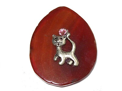 Cat Carnelian Wishing Stone